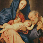The Holy Family With A Basket  Art Print