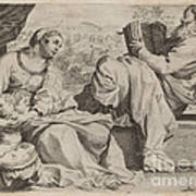 The Holy Family With Saint John The Baptist Art Print