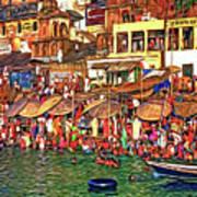 The Holy Ganges - Paint Art Print