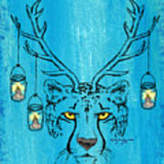 The Horned Cheetah Art Print