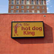 The Hot Dog King Art Print