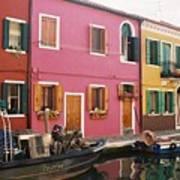 The Houses Of Burano Island-1 Art Print