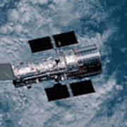 The Hubble Space Telescope Art Print
