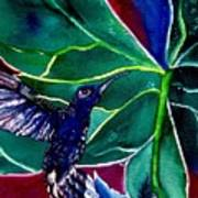 The Hummingbird And The Trillium Art Print