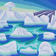 The Ice Calves Art Print