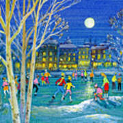 The Iceskaters Art Print