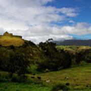 The Inca-canari Ruins At Ingapirca V Art Print