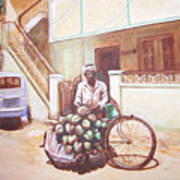 The Indian Tendor-coconut Vendor Art Print
