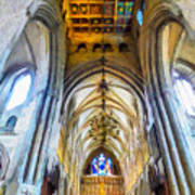 The Interior Of The Southwark Cathedral  Art Print