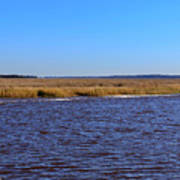 The Intracoastal Waterway In The Georgia Low Country In Winter Art Print