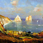 The Island Of Capri And The Faraglioni Art Print