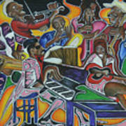 The Jazz Orchestra Art Print