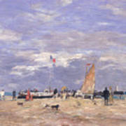 The Jetty At Deauville Art Print