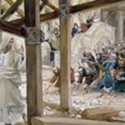 The Jews Took Up Stones To Cast At Him Print by Tissot
