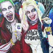 The Joker And Harley Quinn Art Print