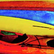 The Kayaks Art Print