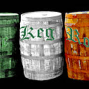 The Keg Room Irish Flag Colors Old English Hunter Green Art Print