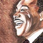 The King Smiles Art Print