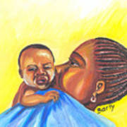 The Kiss Of A Mother In Senegal Art Print