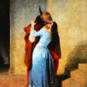 The Kiss Of Hayez Revisited Art Print