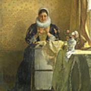 The Lace Maker  Art Print