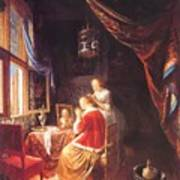 The Lady At Her Dressing Table 1667 Art Print