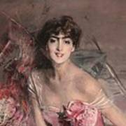 The Lady In Pink Art Print