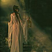 The Lady Of Shalott Art Print by Shanina Conway