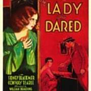 The Lady Who Dared 1931 Art Print
