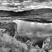 The Lake In Black And White Art Print