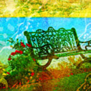 The Lakeview Bench Art Print