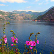 The Landscape Of The Bay Of Kotor In Montenegro. Art Print