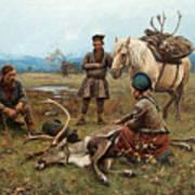 The Laplander Camp At Gleen Art Print