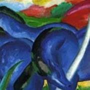The Large Blue Horses 1911 Art Print