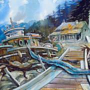 The Last Bastion..on the Beach Art Print