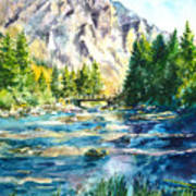 The Last Bridge To Alpine Art Print