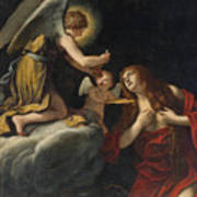 The Last Communion Of The Magdalene Art Print