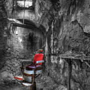 The Last Cut- Barber Chair - Eastern State Penitentiary Art Print