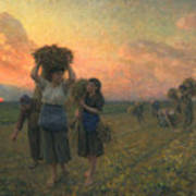 The Last Gleanings Art Print by Jules Breton