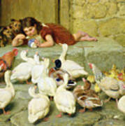 The Last Spoonful Art Print by Briton Riviere