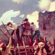 The Last Stand At The Alamo Art Print