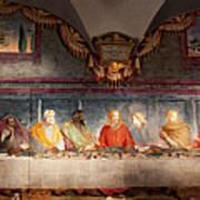 The Last Supper. Fresco In Church Santa Maria Del Carmine, Florence  Art Print