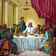 The Last Supper Print by John Lautermilch