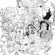 The Last Unicorn Poster Art Print