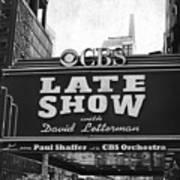 The Late Show Art Print