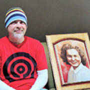 The Artist And His Latest Painting Art Print