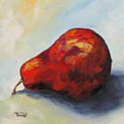 The Lazy Red Pear II Art Print