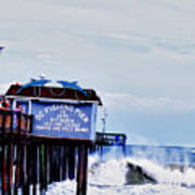 The Leaning Pier Art Print
