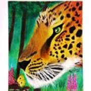 The Leopard And The Butterfly Art Print