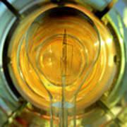 The Light Bulb Inside The Fresnel Of A Lighthouse Art Print